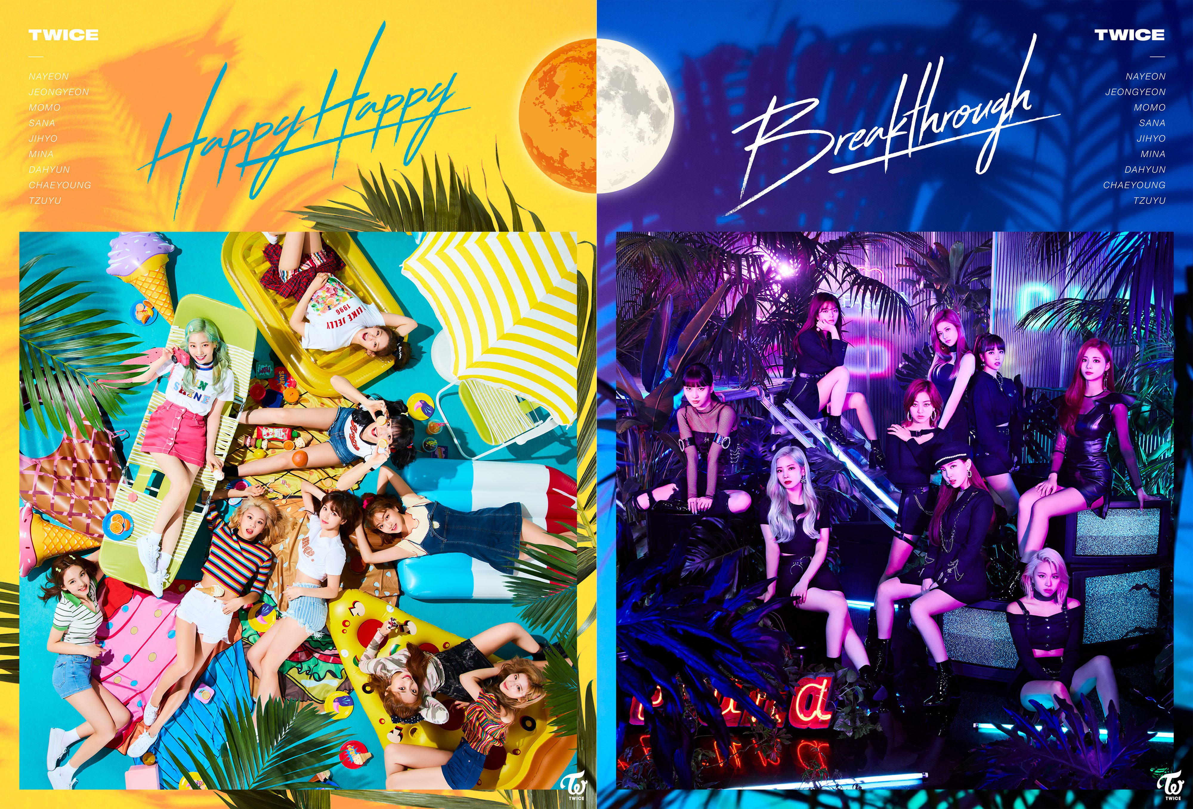 Twice Happy Happy and Breakthrough Covers