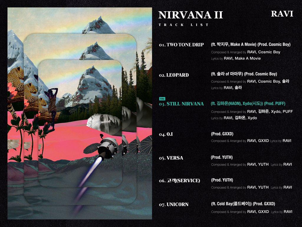 VIXX Ravi Nirvana 2 Tracklist