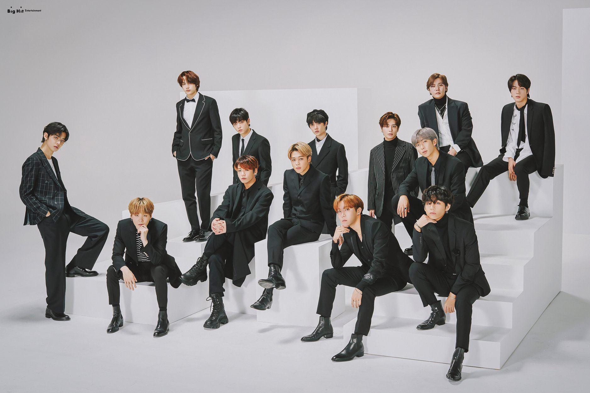 BigHit 15th Anniversary (BTS, TXT, Lee Hyun) Group Photos (HD/HR)