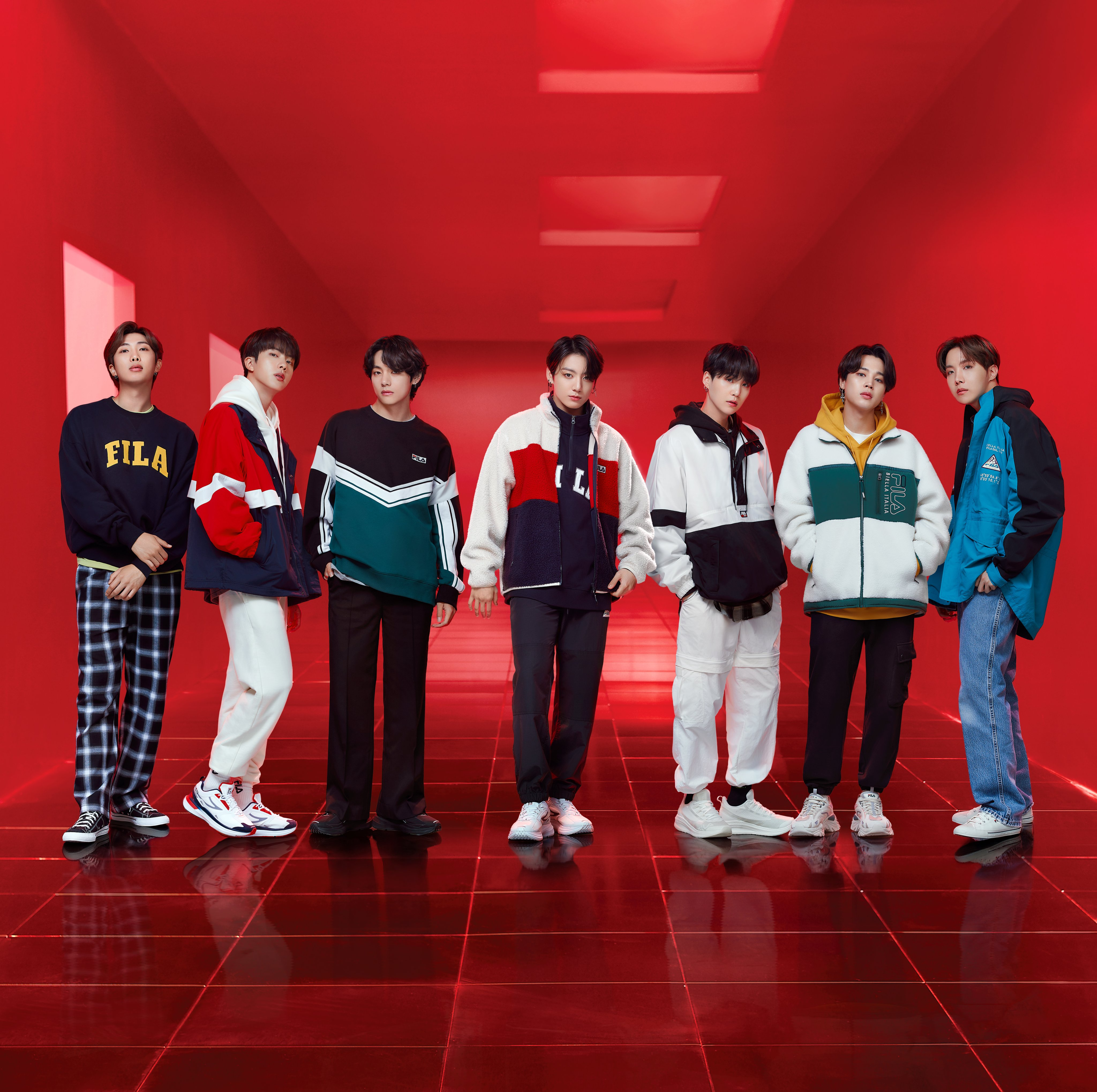 BTS Fila Fall 2020 Collection Photos (HD/HQ)